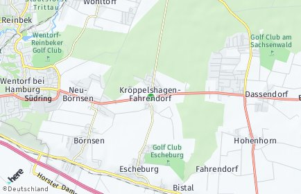 Stadtplan Kröppelshagen-Fahrendorf