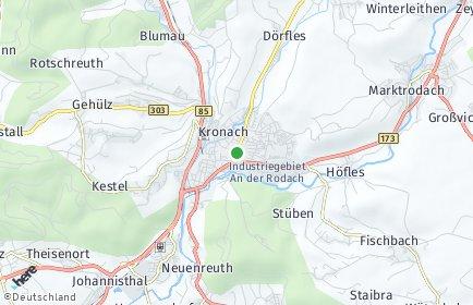 Stadtplan Kronach