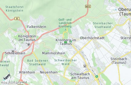 Stadtplan Kronberg im Taunus