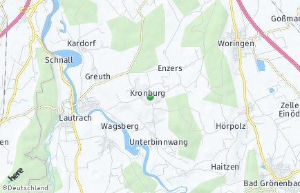 Stadtplan Kronburg