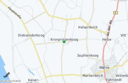 Stadtplan Kronprinzenkoog