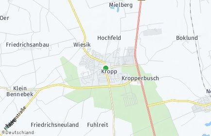 Stadtplan Kropp