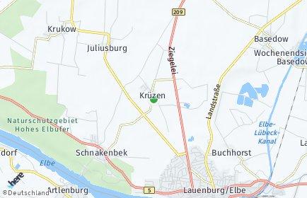 Stadtplan Krüzen