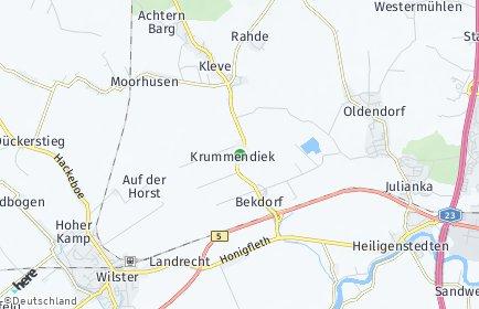 Stadtplan Krummendiek