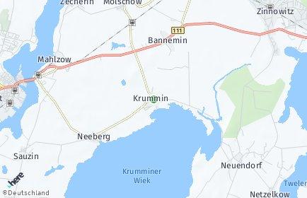 Stadtplan Krummin