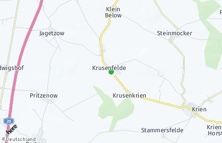 Stadtplan Krusenfelde