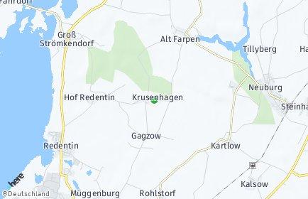 Stadtplan Krusenhagen