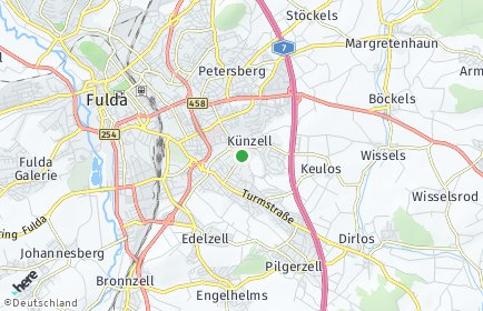Stadtplan Künzell