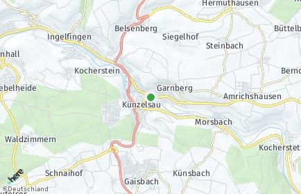 Stadtplan Künzelsau
