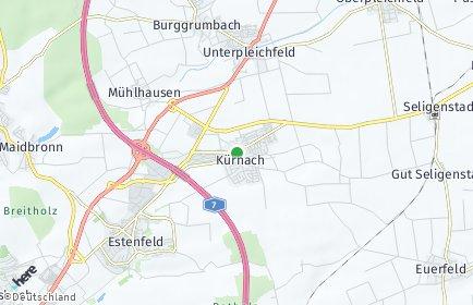 Stadtplan Kürnach