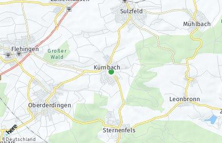 Stadtplan Kürnbach