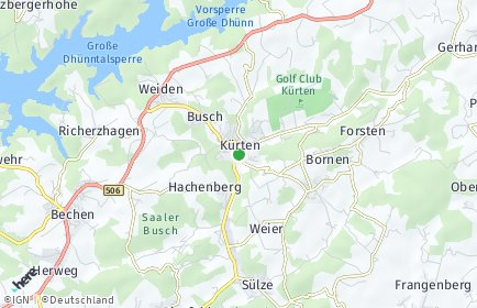 Stadtplan Kürten