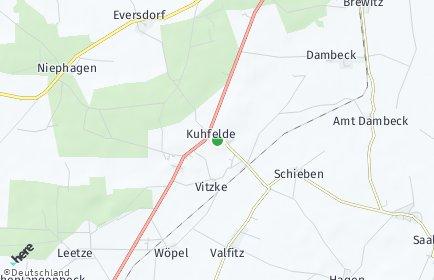Stadtplan Kuhfelde