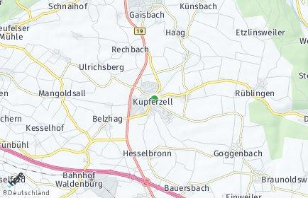 Stadtplan Kupferzell