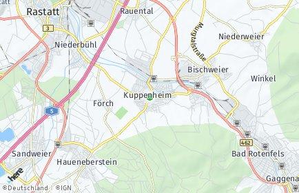 Stadtplan Kuppenheim
