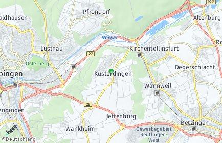 Stadtplan Kusterdingen OT Kusterdingen