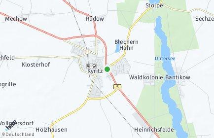 Stadtplan Kyritz OT Lellichow