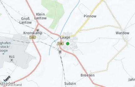 Stadtplan Laage