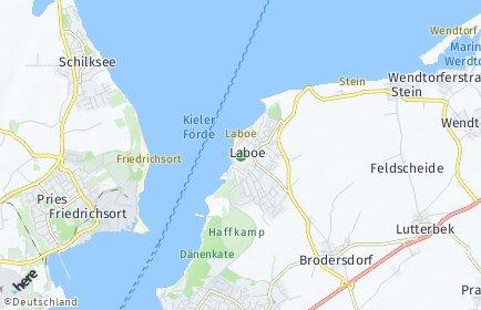 Stadtplan Laboe