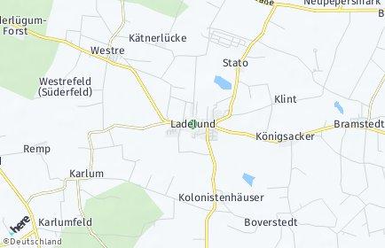 Stadtplan Ladelund