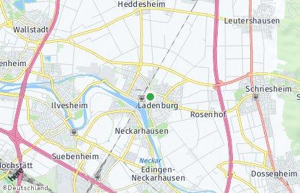 Stadtplan Ladenburg