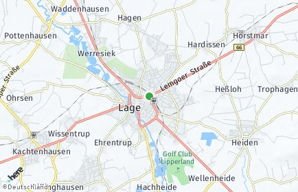 Stadtplan Lage (Lippe)