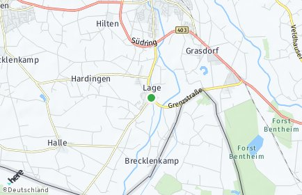 Stadtplan Lage (Dinkel)