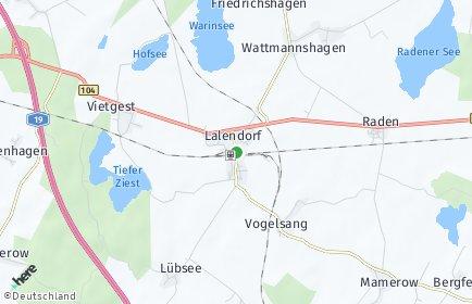 Stadtplan Lalendorf