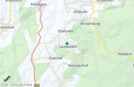 Stadtplan Lampaden