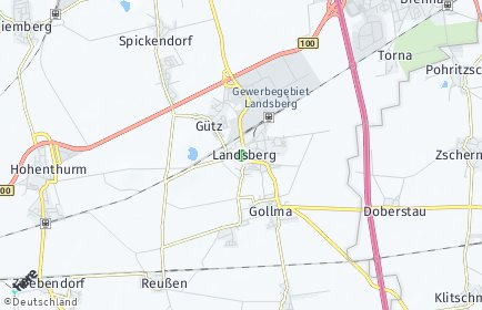 Stadtplan Landsberg (Saalekreis)