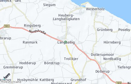 Stadtplan Langballig