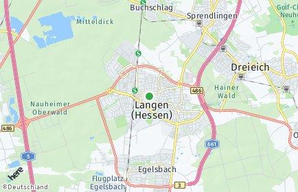 Stadtplan Langen (Hessen)
