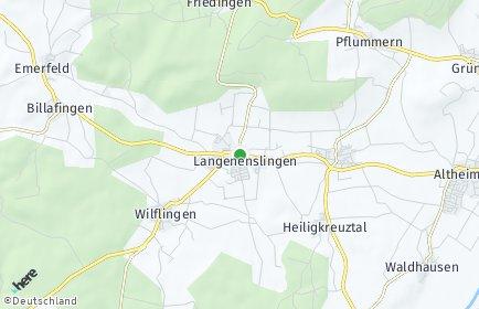 Stadtplan Langenenslingen OT Billafingen
