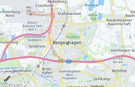 Stadtplan Langenhagen OT Kaltenweide