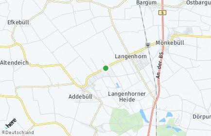 Stadtplan Langenhorn (Nordfriesland)