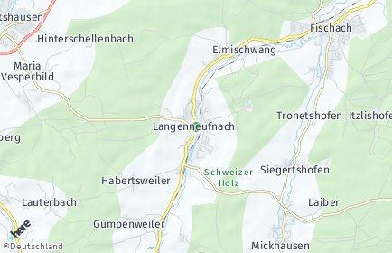 Stadtplan Langenneufnach