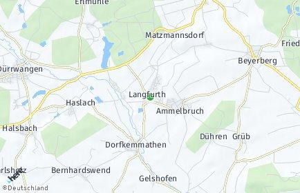 Stadtplan Langfurth