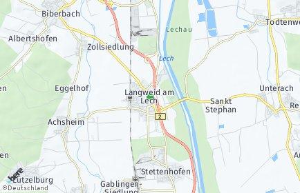 Stadtplan Langweid am Lech