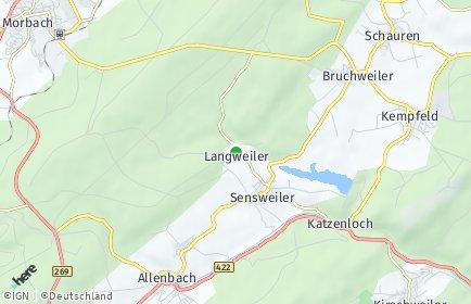 Stadtplan Langweiler bei Idar-Oberstein