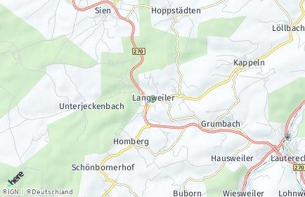 Stadtplan Langweiler bei Lauterecken