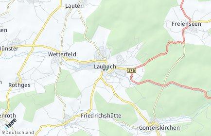 Stadtplan Laubach