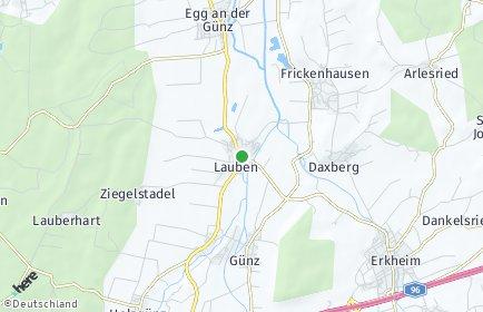 Stadtplan Lauben (Unterallgäu)