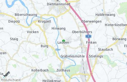 Stadtplan Lauben (Oberallgäu)
