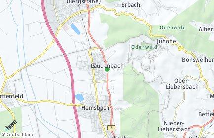 Stadtplan Laudenbach (Bergstraße)