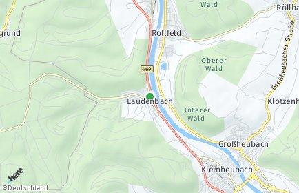 Stadtplan Laudenbach (Unterfranken)