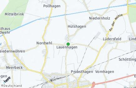 Stadtplan Lauenhagen