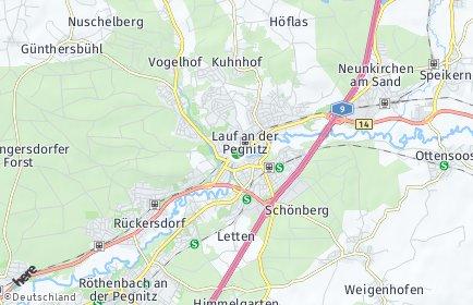 Stadtplan Lauf an der Pegnitz