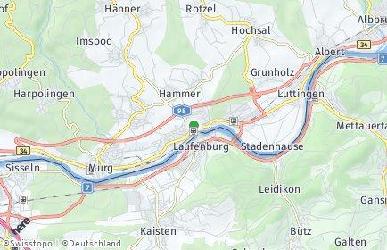 Stadtplan Laufenburg (Baden)