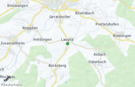 Stadtplan Laugna