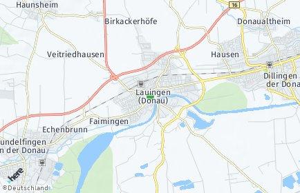 Stadtplan Lauingen (Donau)